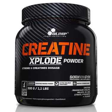 Olimp Creatine Xplode 500 gr 6 tipi di Creatina a rilascio differenziato e Taurina in vendita su Nutribay.it