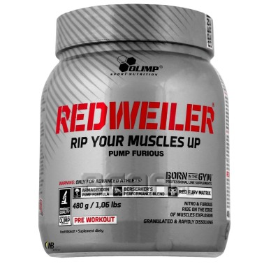 Olimp Redweiler 480 gr. Pre-workout con Beta Alanina Citrullina Arginina PRE ALLENAMENTO in vendita su Nutribay.it