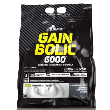 Olimp Gain Bolic 6000 1 kg Mega Mass Gainer con Creatina e Vitamine - GAINERS AUMENTO MASSA in vendita su Nutribay.it