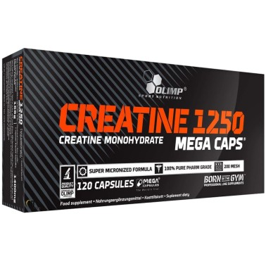 Olimp Creatine 1250 Mega Caps 120 Creatina in Capsule da 1,25 grammi in vendita su Nutribay.it