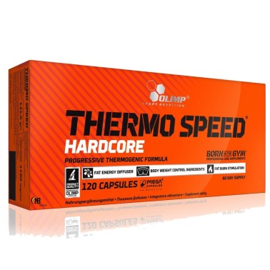 Olimp Thermo Speed Hardcore 120 mega capsule Termogenico Forte BRUCIA GRASSI TERMOGENICI in vendita su Nutribay.it