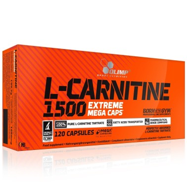 OLIMP L-Carnitina 1500 Extreme 120 MEGA CAPS Dimagrante CARNITINA in vendita su Nutribay.it