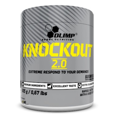 Olimp Knockout 2.0 305 gr. Pre-workout con Beta Alanina Citrullina Arginina - PRE ALLENAMENTO in vendita su Nutribay.it