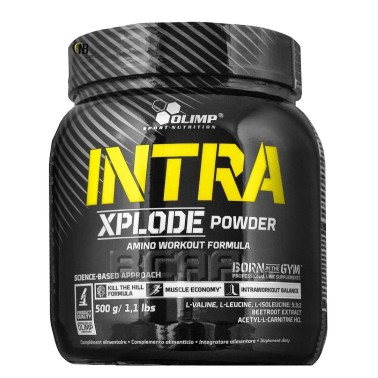 Olimp Intra Xplode Powder 500 gr. Pre-Workout con Bcaa 5:3:2 AMINOACIDI 3.1.2 - 4.1.1 - 10.1.1 - 12.1.1 in vendita su Nutriba...