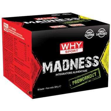 Why Madness Pre Workout 60 x 5,4 gr Con Beta Alanina e Citrullina PRE ALLENAMENTO in vendita su Nutribay.it