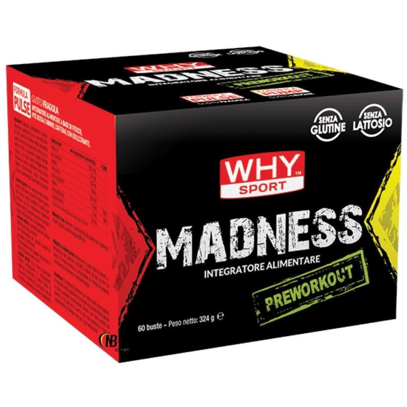 Why Madness Pre Workout 60 x 5,4 gr Con Beta Alanina e Citrullina in vendita su Nutribay.it