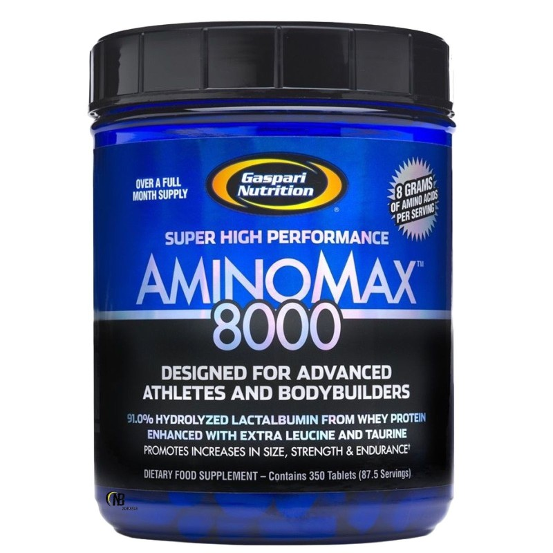 Gaspari Aminomax 8000 350 cpr. Pool Aminoacidi con Taurina e Creatina in vendita su Nutribay.it
