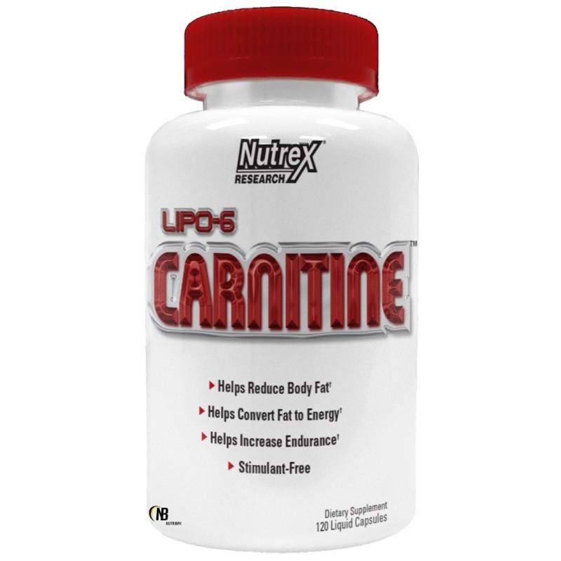 Nutrex Lipo 6 Carnitine 120 Liquid caps Carnitina in vendita su Nutribay.it