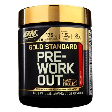 On Optimum Nutrition Gold Standard Pre-Workout 330 gr. Pre Allenamento PRE ALLENAMENTO in vendita su Nutribay.it