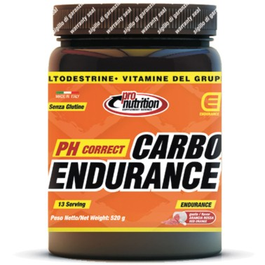 Pronutrition Carboendurance 520 gr Maltodestrine Vitamine e Calcio in vendita su Nutribay.it