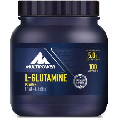 Multipower L-Glutamine Powder 500 gr L-glutamina pura in polvere in vendita su Nutribay.it