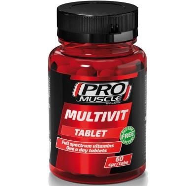 Proaction Pro Muscle Multivit 60 cpr Multivitaminico Minerale Completo in vendita su Nutribay.it