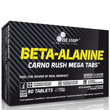Olimp Mega Carno Rush 80 cpr. Beta Alanina con L-Istidina e b6 - TONICI in vendita su Nutribay.it
