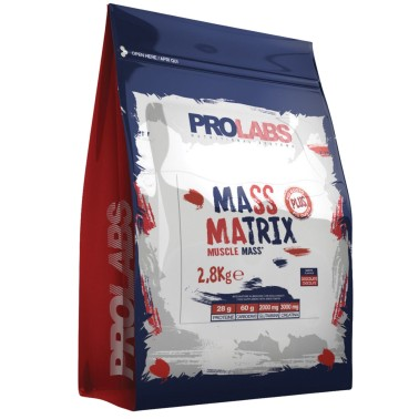 Prolabs Mass Matrix 2,8 kg Mega Mass Gainer con Proteine Creatina e Glutammina in vendita su Nutribay.it