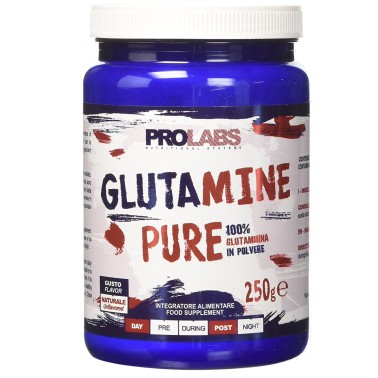 Prolabs Glutamine Pure 250 gr. PURA GLUTAMMINA IN POLVERE in vendita su Nutribay.it