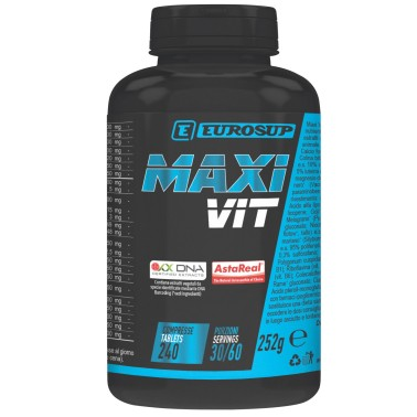 Eurosup MAXi VIT 240 cpr Multivitaminico Alto dosaggio - VITAMINE in vendita su Nutribay.it