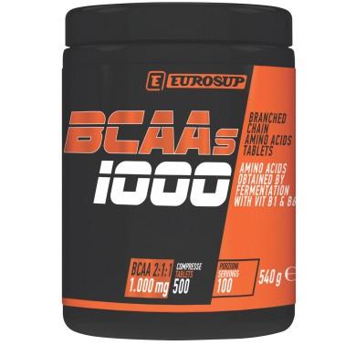 Eurosup BCAAs 1000mg 500 cpr Aminoacidi Ramificati da 1 g + Vitamine b1 b6 - AMINOACIDI BCAA - in vendita su Nutribay.it