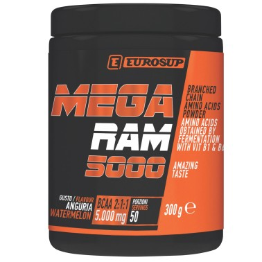 Eurosup MEGA RAM 5000 300 gr Aminoacidi Ramificati in polvere - AMINOACIDI BCAA - in vendita su Nutribay.it