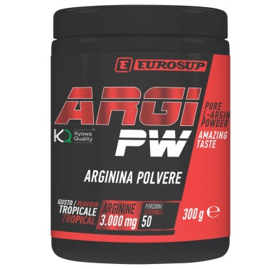 Eurosup Argi Pw 300 gr Arginina in polvere qualita' Kyowa in vendita su Nutribay.it