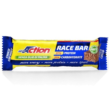 Proaction Race Bar 10 barrette Proteiche Energetiche da 55 grammi in vendita su Nutribay.it