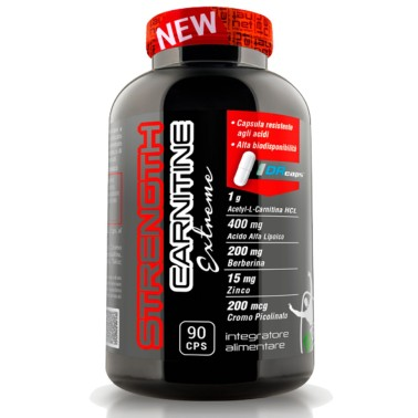 Net Integratori STRENGTH CARNITINE EXTREME 90 caps CARNITINA in vendita su Nutribay.it