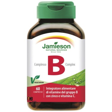 Jamieson Complesso B 60 cpr Vitamine B1 B2 B3 B5 B6 B12 C Zinco - VITAMINE in vendita su Nutribay.it