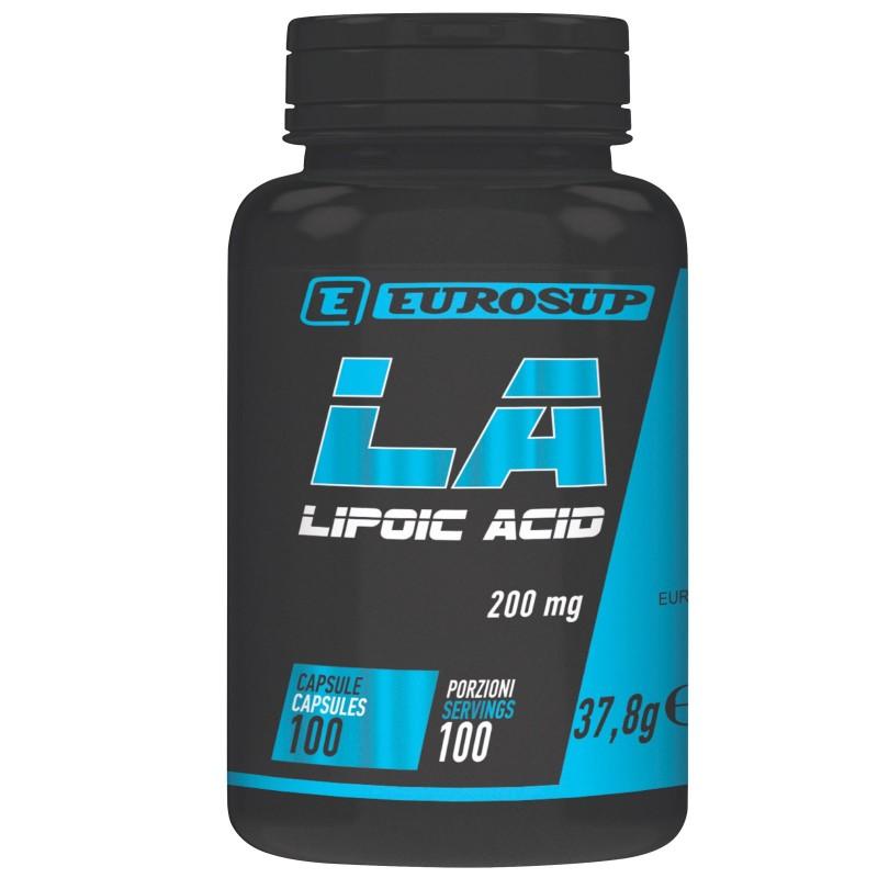 Eurosup Lipoic Acid 100 cps. Integratore di Acido Alfa Lipoico anti Radicali in vendita su Nutribay.it