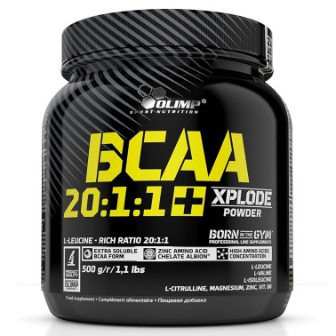 Olimp BCAA 20:1:1+ Xplode Powder 500 gr Aminoacidi con zinco e b6 in vendita su Nutribay.it