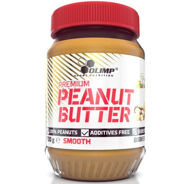 Olimp Peanut Butter Smooth 700 gr Burro d' Arachidi Naturale 25% proteine - ALIMENTI PROTEICI in vendita su Nutribay.it