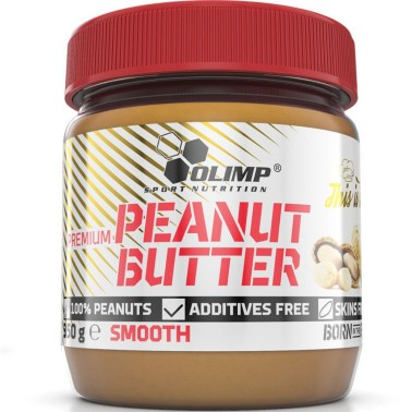 Olimp Peanut Butter Smooth 350 gr Burro d' Arachidi Naturale 25% proteine - ALIMENTI PROTEICI in vendita su Nutribay.it