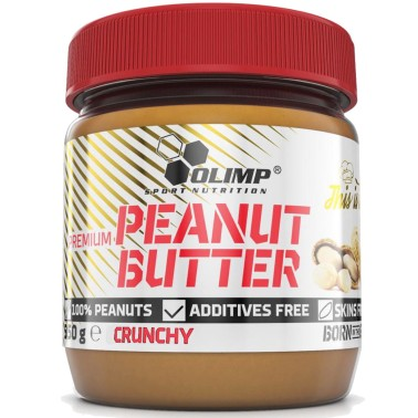 Olimp Peanut Butter Crunchy 350 gr Burro d' Arachidi Croccante 25% proteine in vendita su Nutribay.it