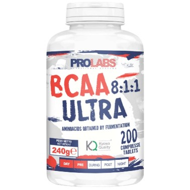Prolabs BCAA ULTRA 8:1:1 200 cpr Aminoacidi Ramificati 811 Kyowa con b1 e b6 in vendita su Nutribay.it