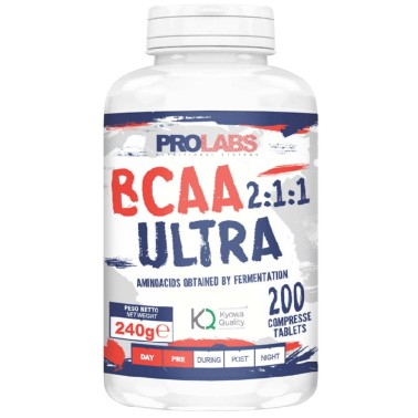 Prolabs BCAA ULTRA 2:1:1 200 cpr Aminoacidi Ramificati Kyowa con b1 e b6 in vendita su Nutribay.it