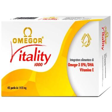 Omegor Vitality 45 perle Omega 3 alta concentrazione EPA DHA con Vitamina E - OMEGA 3 in vendita su Nutribay.it