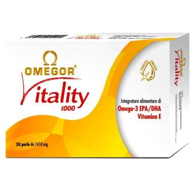 Omegor Vitality 30 perle Omega 3 alta concentrazione EPA DHA con Vitamina E in vendita su Nutribay.it
