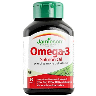 Jamieson Omega 3 Salmon Oil 90 perle da 1 gr 1000mg Olio Di Pesce Salmone in vendita su Nutribay.it