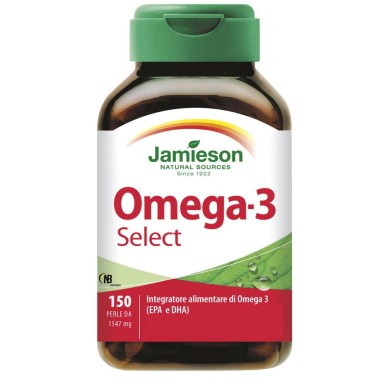 Jamieson Omega 3 Select 150 Perle Integratore Olio di Pesce + Vitamina E - OMEGA 3 in vendita su Nutribay.it