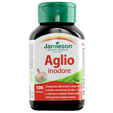 Jamieson Aglio Inodore 100 cps. Integratore di Aglio senza Gusto in vendita su Nutribay.it