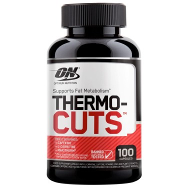 ON OPTIMUM NUTRITION THERMO CUTS 100 cps. TERMOGENICO CON CARNITINA E NEOPUNTIA - BRUCIA GRASSI TERMOGENICI in vendita su Nut...