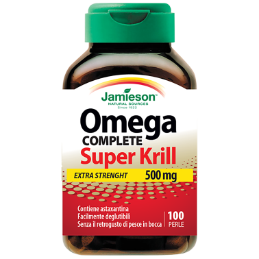 JAMIESON Omega Complete Super Krill Extra Strenght 500mg 100 perle OMEGA 3 in vendita su Nutribay.it