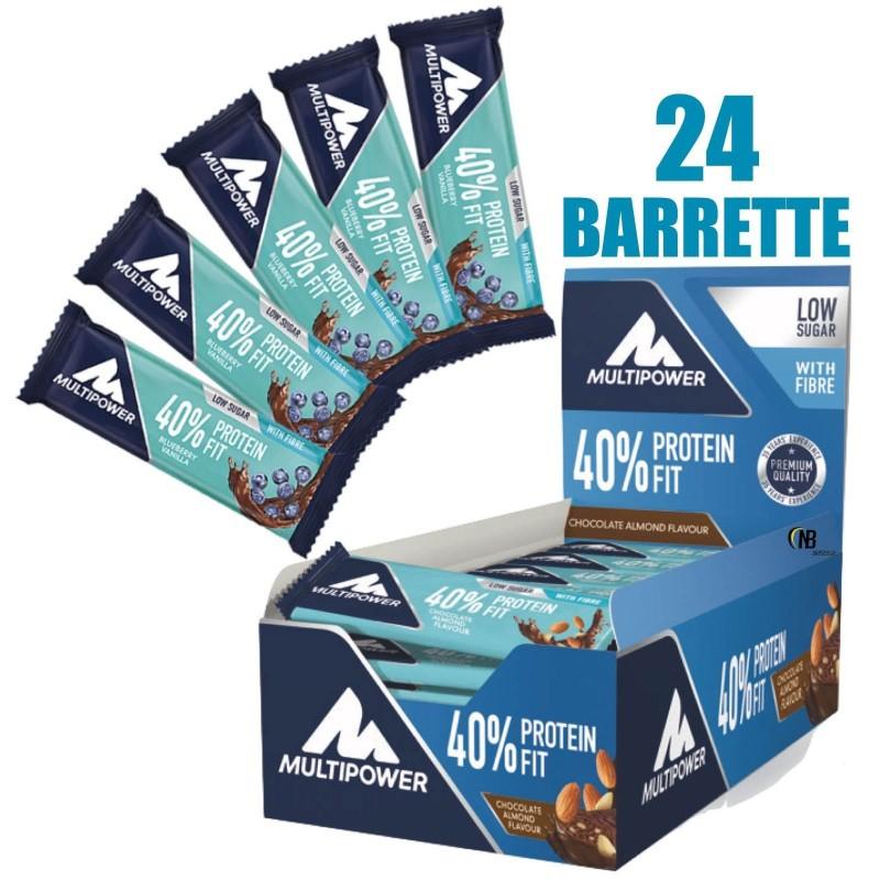 Multipower Protein Fit Bar 24 Barrette Proteiche da 35 gr al 40% con Proteine in vendita su Nutribay.it