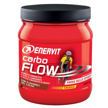 Enervit Carbo Flow 400 gr. Maltodestrine con Flavanoli del Cacao e Vitamine in vendita su Nutribay.it