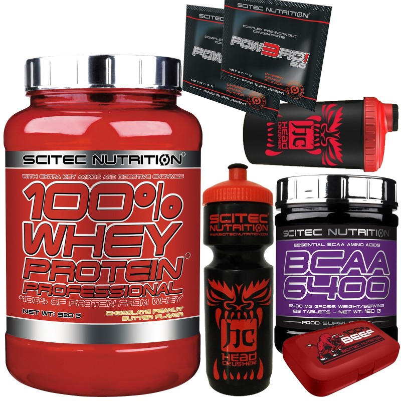 Scitec 100% Whey Protein Professional 920 gr +125 aminoacidi BCAA 6400+SHAKER in vendita su Nutribay.it