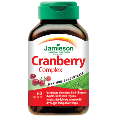 JAMIESON Cranberry Complex 60 caps Integratore di mirtillo rosso - DRENANTI DIURETICI in vendita su Nutribay.it
