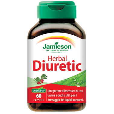 JAMIESON Herbal Diuretic 60 caps Diuretico Drenante in vendita su Nutribay.it
