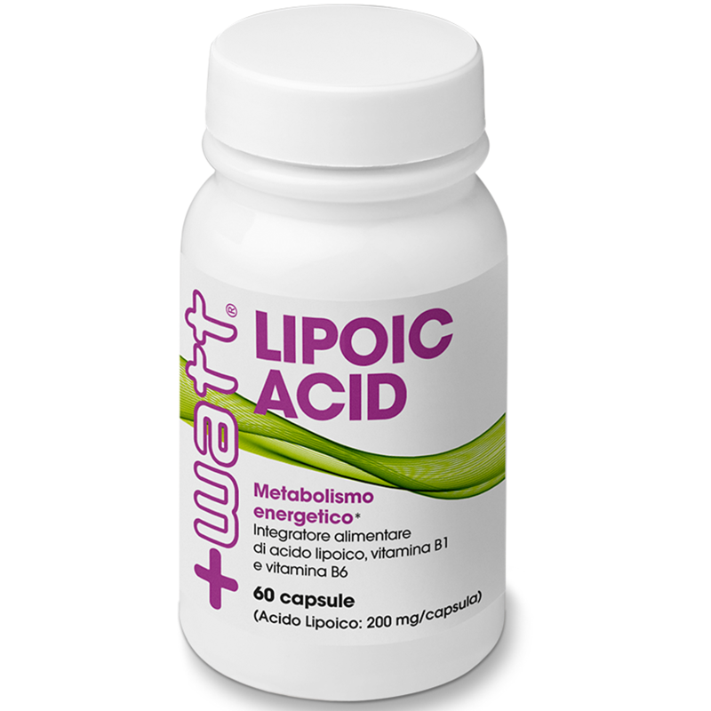 +WATT LIPOIC ACID ACIDO ALFA LIPOICO + vitamine 60cps 200mg riduce glicemia in vendita su Nutribay.it