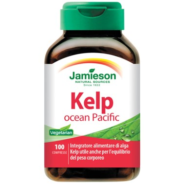 JAMIESON Kelp Ocean Pacific 100 cpr Alga - BRUCIA GRASSI TERMOGENICI in vendita su Nutribay.it