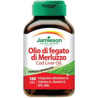 JAMIESON Olio di Fegato di Merluzzo 100 perle - OMEGA 3 in vendita su Nutribay.it