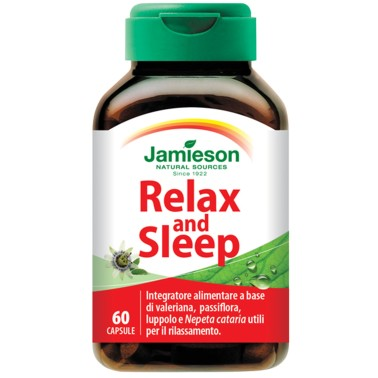 JAMIESON Relax and Sleep 60 caps - BENESSERE-SALUTE in vendita su Nutribay.it