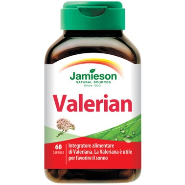 JAMIESON Valerian 60 caps Valeriana officinalis - BENESSERE-SALUTE in vendita su Nutribay.it